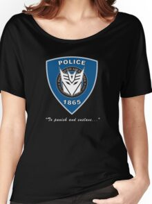 Transformers - Police Logo - Medium Size Logo Women's Relaxed Fit T-Shirt