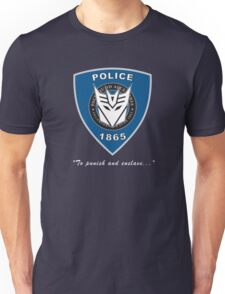 Transformers - Police Logo - Medium Size Logo Unisex T-Shirt