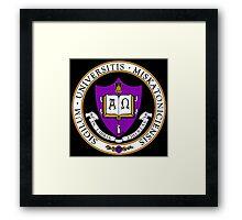 Miskatonic University Color Seal Framed Print