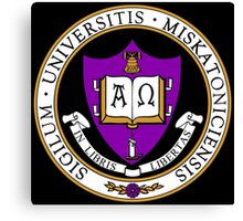 Miskatonic University Color Seal Canvas Print