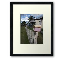 Fence With Character Framed Print
