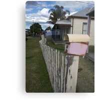 Fence With Character Metal Print