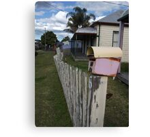 Fence With Character Canvas Print