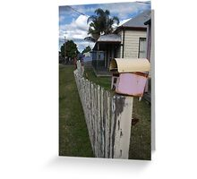Fence With Character Greeting Card