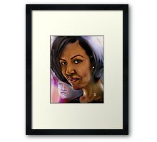 BEHIND EVERY SUCCESSFUL MAN IS A GOOD WOMAN !  Framed Print