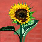 Homegrown Sunshine-My Sunflower by Anne Gitto