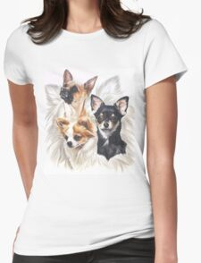 Chihuahua /Ghost Womens Fitted T-Shirt