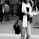 peoplescapes #352, white scarf by stickelsimages