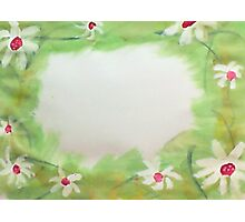 Daisey  Picture  border,  watercolor Photographic Print