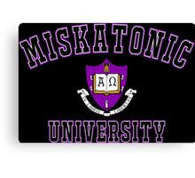 Miskatonic University Color Logo Canvas Print