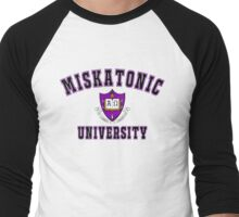 Miskatonic University Color Logo Men's Baseball ¾ T-Shirt