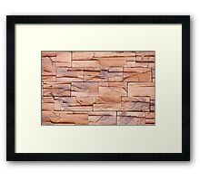 Slate tiles brown purple rock abstract Framed Print