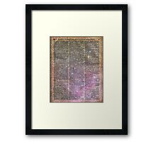 Vintage Space Magic dictionary book page Notebook Framed Print