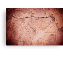old cracked paint texture damaged wall Canvas Print