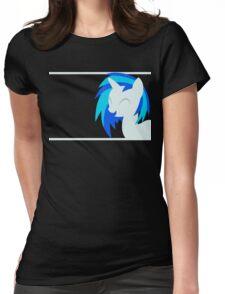 VinylScratch sillhouette Womens Fitted T-Shirt