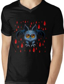 Halloween Bat Mens V-Neck T-Shirt