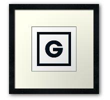 """Alphabet """"G"""" Framed Print"""
