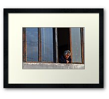Old Lady by the Window Framed Print