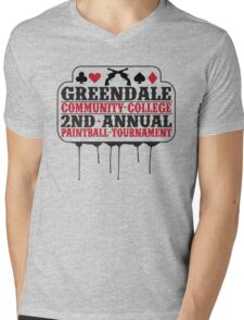 Greendale Paintball Tournament Mens V-Neck T-Shirt
