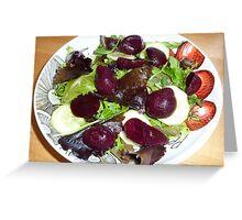 Beetroot salad Greeting Card