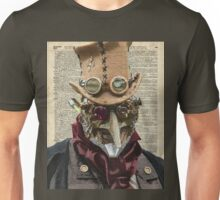 Steampunk guy Robo-man,Robot,Dictionary Art Unisex T-Shirt
