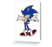 Minimalist Modern Sonic 2 Greeting Card