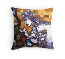 The Face of Mother Nature Throw Pillow