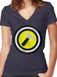 Captain Captain Hammer Women's Fitted V-Neck T-Shirt