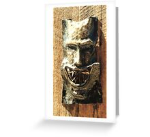 The Devils smile Greeting Card