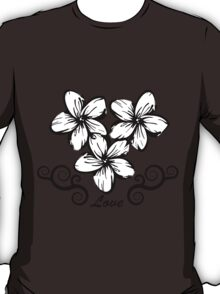 Plumeria in Hawaii Style T-Shirt