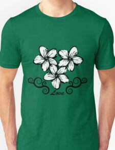 Plumeria in Hawaii Style T-Shirt