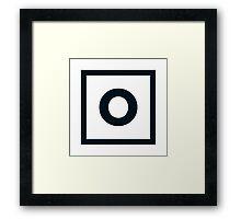 """Alphabet """"O"""" Framed Print"""