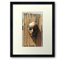 Rust Face Framed Print