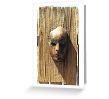 Rust Face Greeting Card
