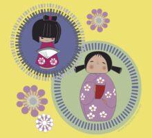 kokeshi twins Baby Tee