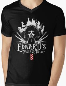Edward's Salon and Topiary - Edward Scissorhands Mens V-Neck T-Shirt