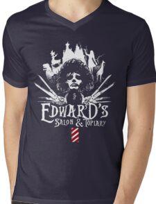 Edward's Salon and Topiary - Edward Scissorhands Mens V-Neck T-Shirt