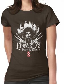 Edward's Salon and Topiary - Edward Scissorhands Womens Fitted T-Shirt