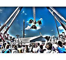 Surrealistic Thrill Ride Photographic Print