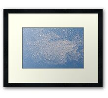 Blue abstract of ice and condensation Framed Print