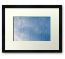 Abstract of condensation and vapor  Framed Print