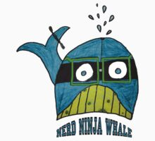 Nerd Ninja Whale (my daughters art and design) by Elizabeth Burton