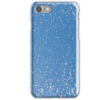 Melting snow spots blue sky iPhone Case/Skin