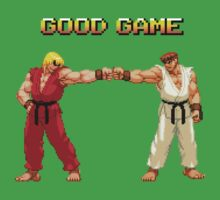 STREET FIGHTER - RYU & KEN by bluerockerzoo