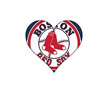 Red Sox love Photographic Print