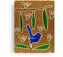 Blue Wren Dreaming Canvas Print