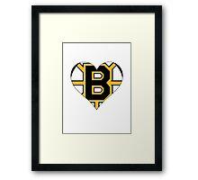 Boston Bruins love Framed Print