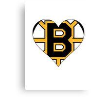 Boston Bruins love Canvas Print