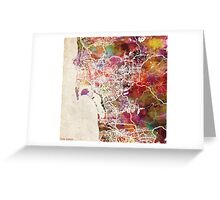 San Diego map Greeting Card