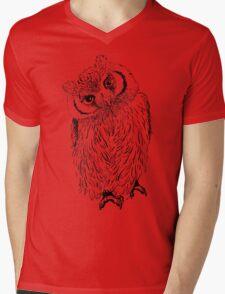 Owl hand drawn Mens V-Neck T-Shirt